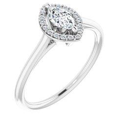 Halo-Styled Ring for Gemstone