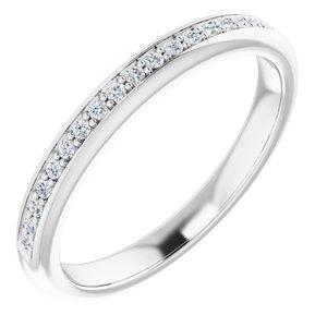 14K White 1/8 CTW Diamond Band for 6 mm Square Ring