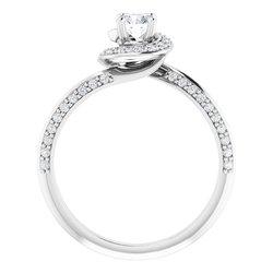Zásnubný prsteň - Halo štýl - neosadený