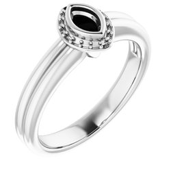 Halo-Style Bezel-Set Engagement Ring