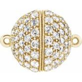 Diamond Magnetic Ball Clasp