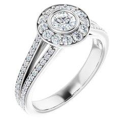 Halo-Styled Engagement Ring Mounting