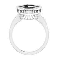 Bezel-Set Engagement Ring