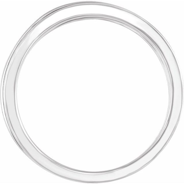 14K White 10.2 mm Criss-Cross Ring