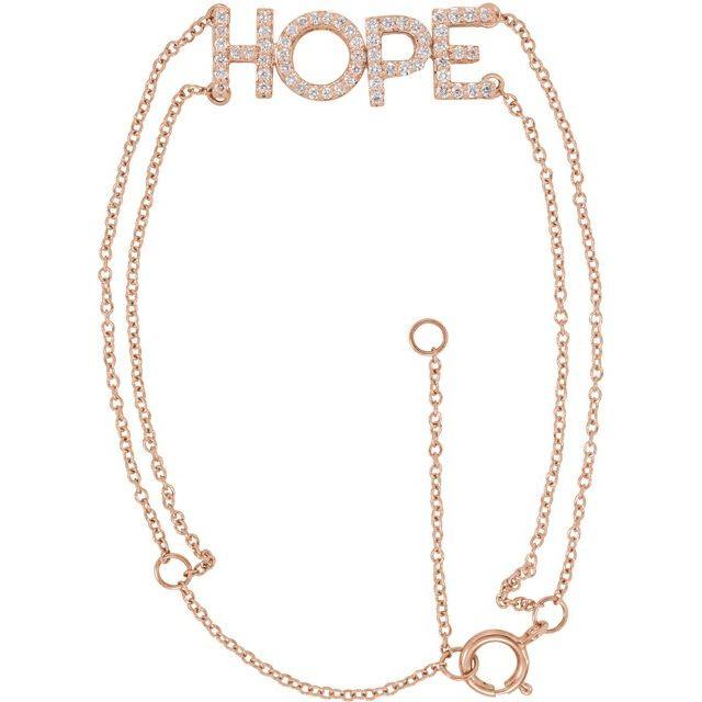14K Rose 1/4 CTW Diamond Hope 5-7
