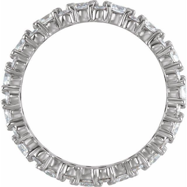 14K White 1 3/4 CTW Diamond Eternity Band Size 7