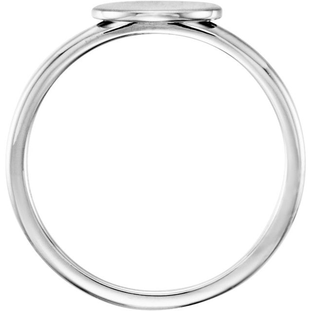 Continuum Sterling Silver Oval Engravable Ring