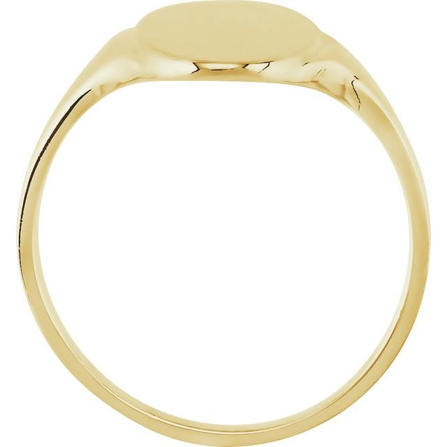 14K Yellow 16.4x8.5 mm Oval Signet Ring