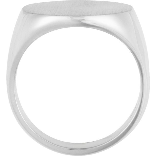 Sterling Silver 18 mm Round Signet Ring