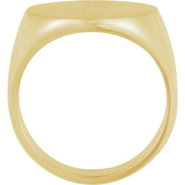 10K Yellow 18 mm Round Signet Ring