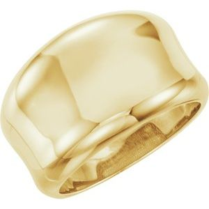 14K Yellow Concave Ring