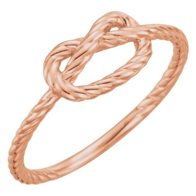 14K Rose Rope Knot Ring