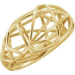 14K Yellow Nest Design Ring