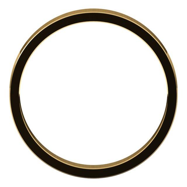18K Yellow 3 mm Flat Band Size 7