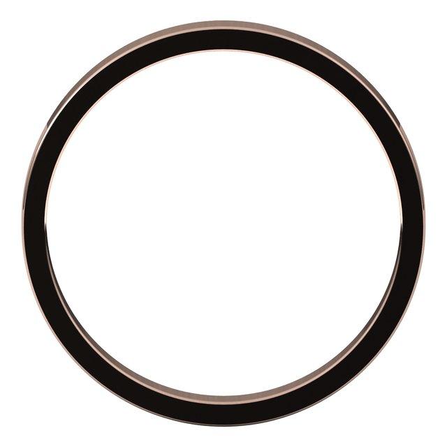 14K Rose 2.5 mm Flat Band Size 6