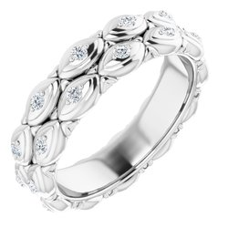 Svadobná Obrúčka alebo prsteň Eternity neosadený