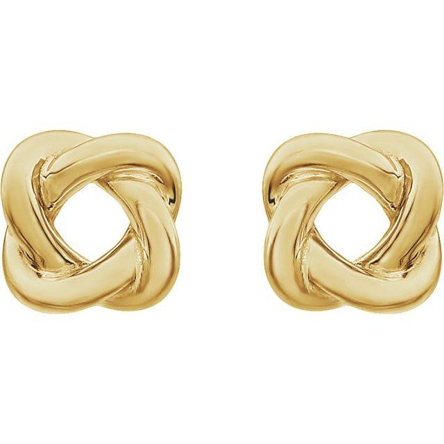 14K Yellow 7x7 mm Knot Earrings