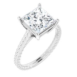 71746 / Sterling Silver / Ring / Mounting / Square / 08.00 Mm / Polished / Ring Mounting