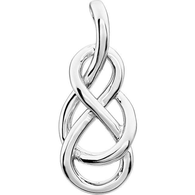 14K White Infinity-Inspired Knot Pendant