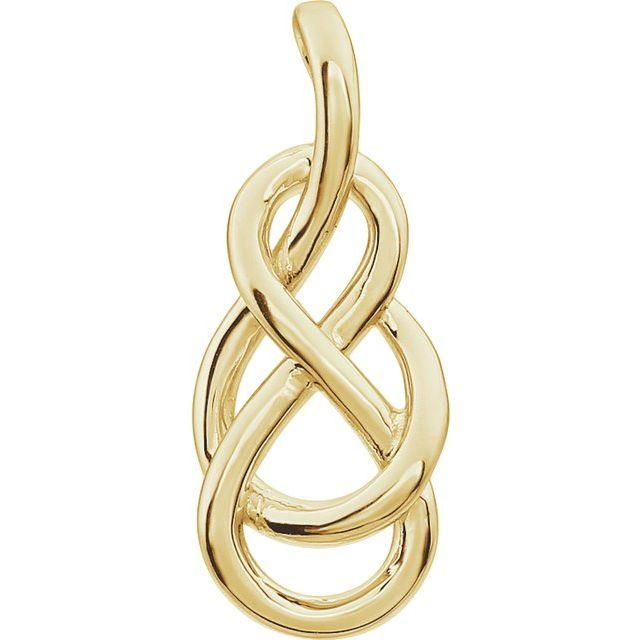 14K Yellow Infinity-Inspired Knot Pendant