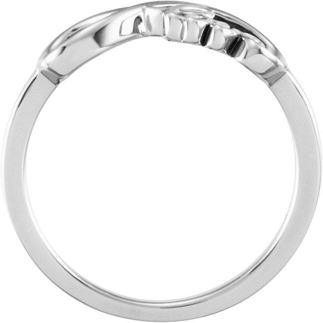 14K White Love Infinity-Inspired Ring