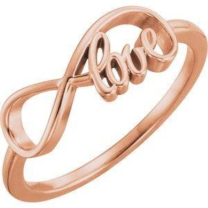 14K Rose Love Infinity-Inspired Ring