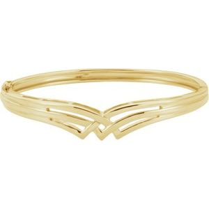 14K Yellow Hinged Bangle Bracelet