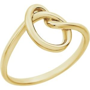 14K Yellow Knot Design Ring