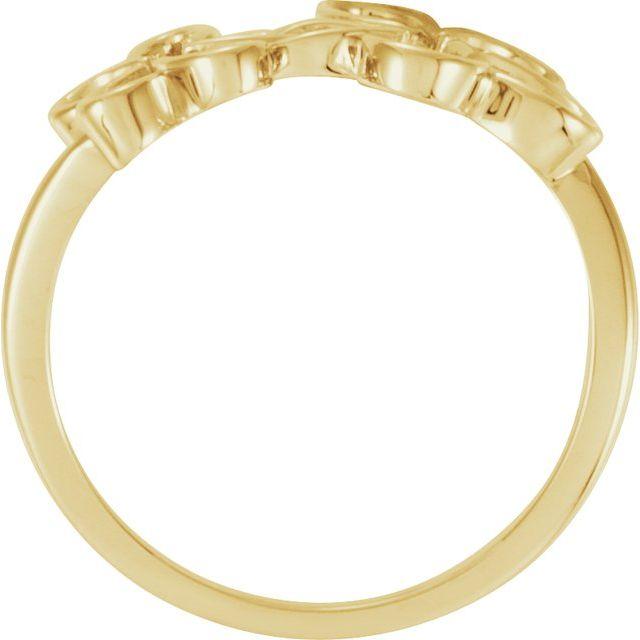 14K Yellow Flower Ring