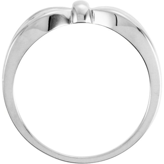 14K White Remount Ring