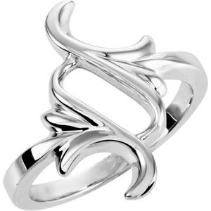 14K White Fashion Ring