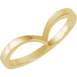 "14K Yellow ""V"" Ring"