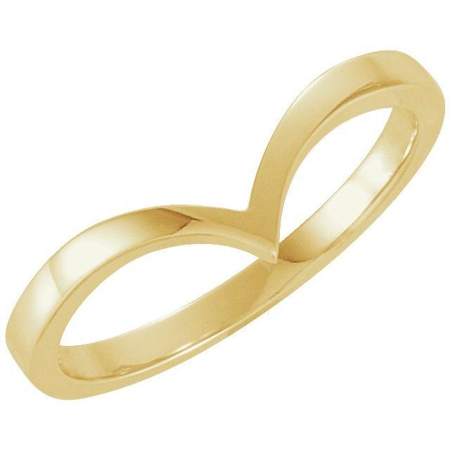 18K Yellow V Ring