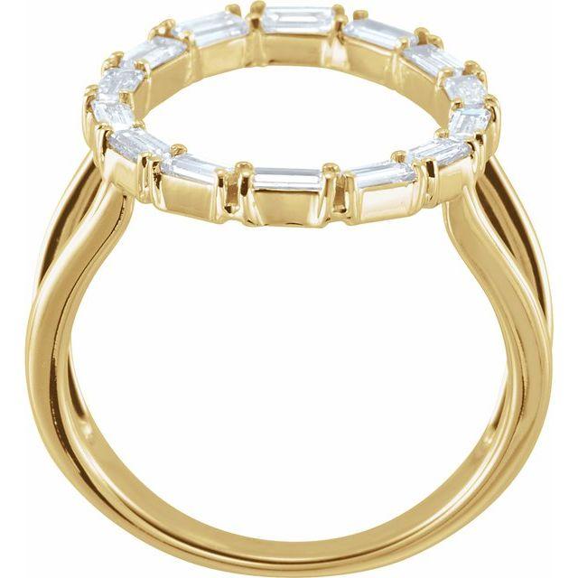 14K Yellow 1/2 CTW Diamond Negative Space Ring