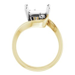 Three-Stone Bypass Engagement Ring