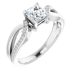 Sculptural-Style Engagement Ring