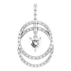 Accented Double Circle Pendant