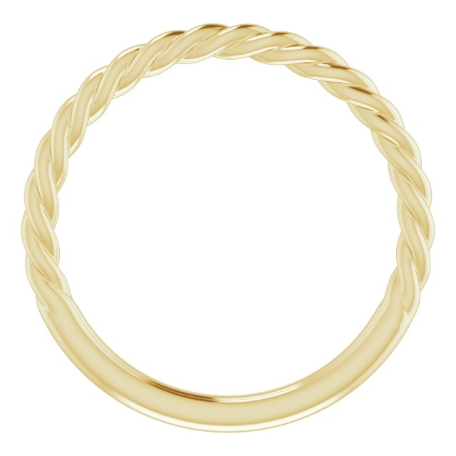 14K Yellow 1.5 mm Twisted Rope Band Size 7