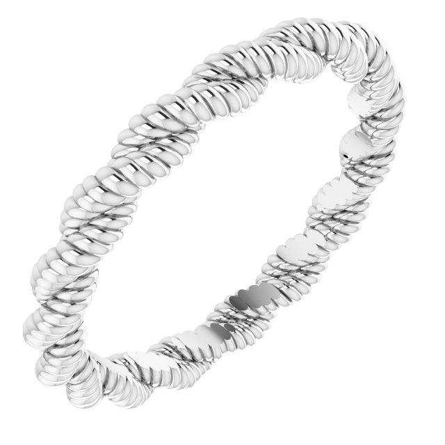Sterling Silver Twisted Rope Band Size 7