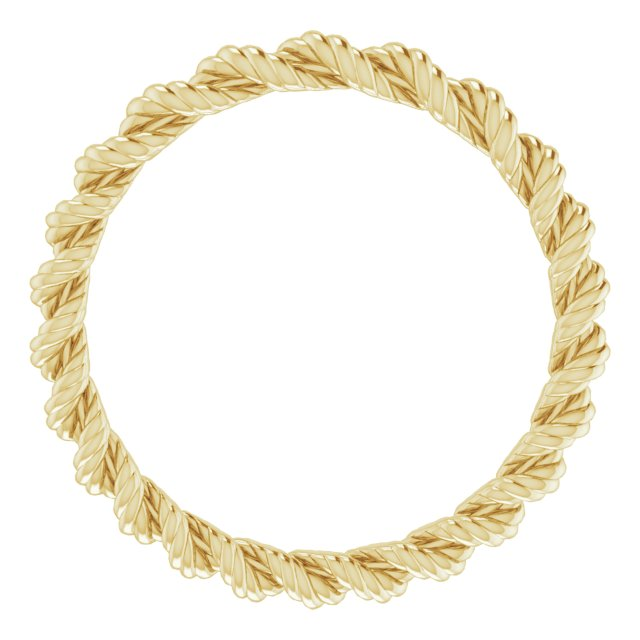 14K Yellow 2 mm Twisted Rope Band Size 5