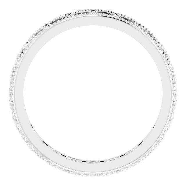 14K White 3 mm Band Size 7
