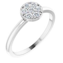 Diamond Stackable Cluster Ring alebo neosadený