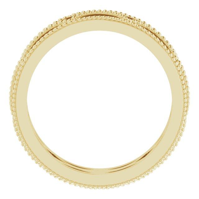 14K Yellow 5 mm Band Size 5
