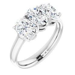 3-Stone Ring Mounting for Gemstone