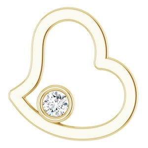 14K Yellow 1/10 CTW Diamond Pendant