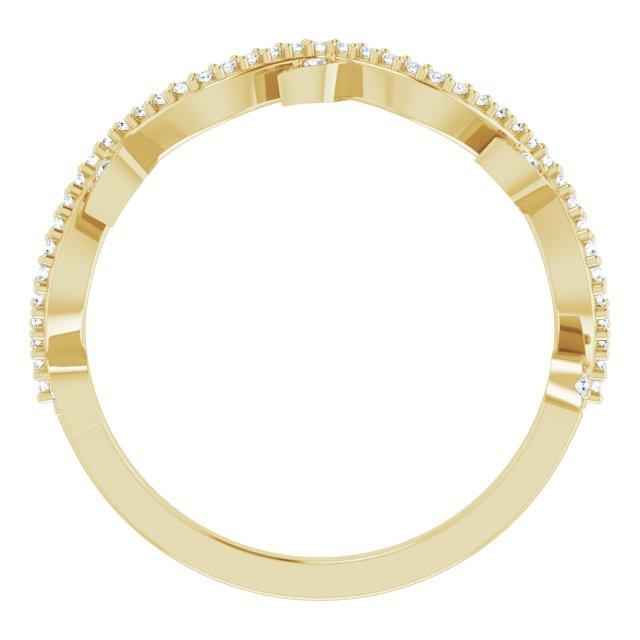 14K Yellow 1/6 CTW Diamond Leaf Ring