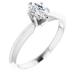 Oval 6-krapní Solitaire Ring Mounting