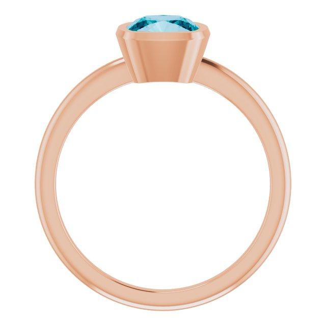 14K Rose London Blue Topaz Ring
