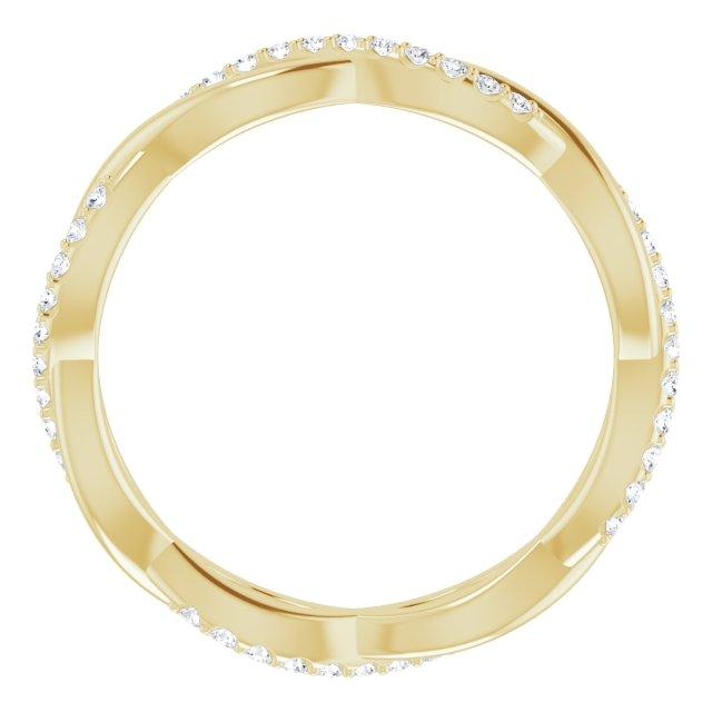 14K Yellow 1/5 CTW Diamond Infinity-Inspired Eternity Band Size 5