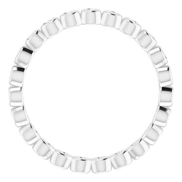 14K White 3/8 CTW Diamond Eternity Band Size 7